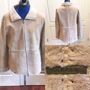 Guess suede shearling jacket!